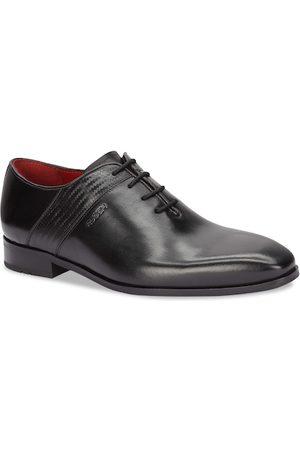 Ruosh Men Black Solid Leather Oxfords