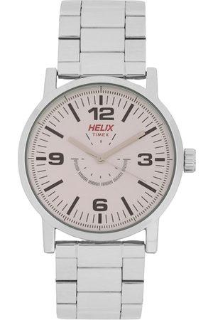 Helix Men Beige Analogue Watch TW035HG03