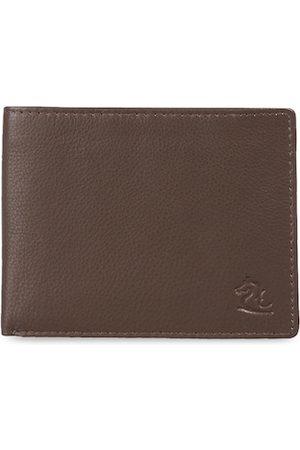 KARA Men Brown Solid Two Fold Leather Wallet