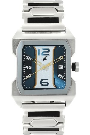 Fastrack Men Navy Blue & White Analogue Watch NM1474SM05