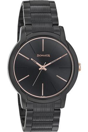 Sonata Men Watches - Men Black Analogue Watch