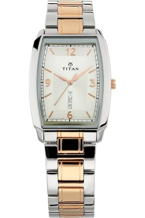 Titan Men Silver-Toned Analogue Watch