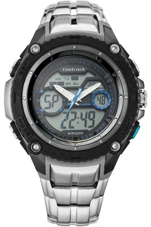 Fastrack Men Grey Analogue and Digital Watch 38053PM02
