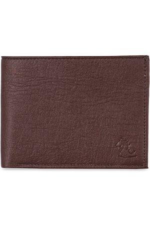 Kara Men Brown Textured Two Fold Wallet