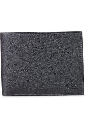 KARA Men Black Solid Two Fold Wallet