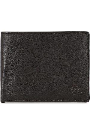 KARA Men Brown Solid Leather Two Fold Wallet