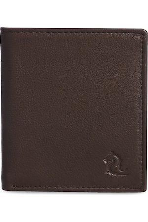 KARA Men Tan Brown Leather Solid Two Fold Wallet