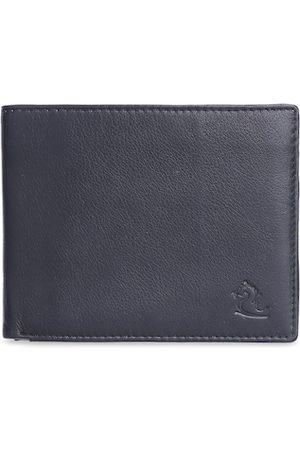 KARA Men Black Solid Two Fold Leather Wallet
