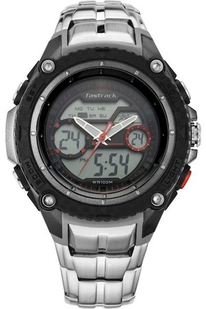 Fastrack Men Grey & Black Analogue and Digital Watch