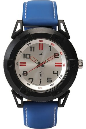 Fastrack Men Silver-Toned & Blue Analogue Watch