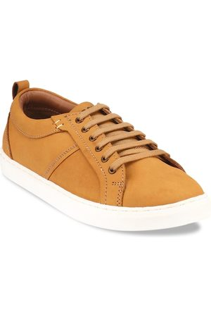 Red Chief Men Brown Leather Sneakers