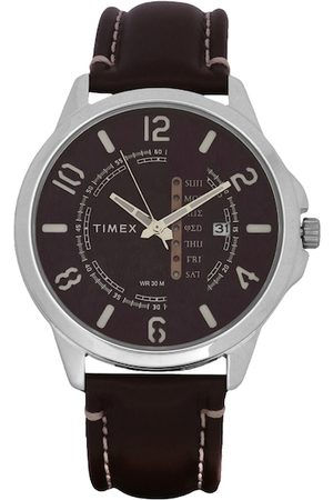 Timex Men Coffee Brown Analogue Watch With Date Aperture