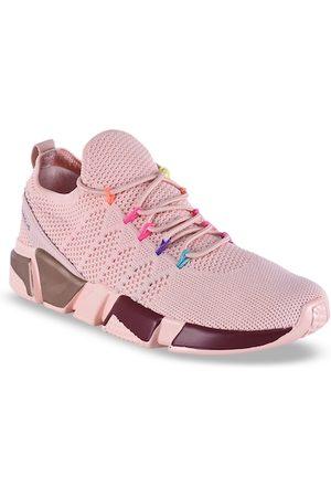 Campus Women Pink Mesh Running Shoes