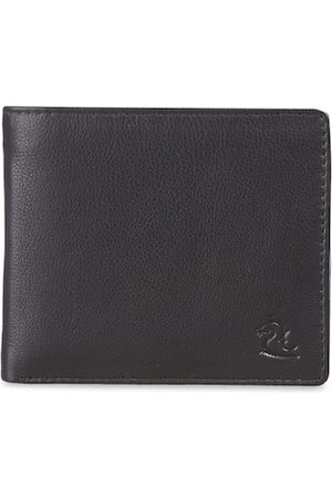 KARA Men Brown Solid Nappa Leather Two Fold Wallet