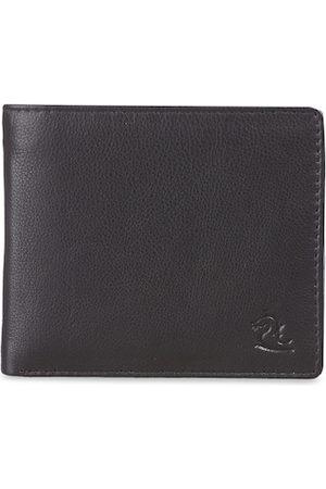 KARA Men Brown Solid Nappa Leather Two Fold Wallet