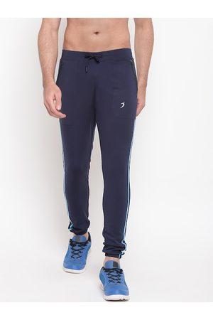 SAPPER Men Navy Blue Solid Slim-Fit Joggers