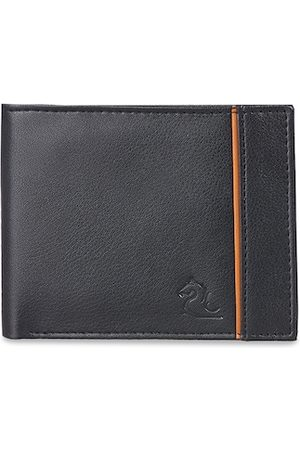 KARA Men Black Solid Two Fold Wallet