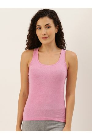 Jockey Womans Pink Solid Camisole