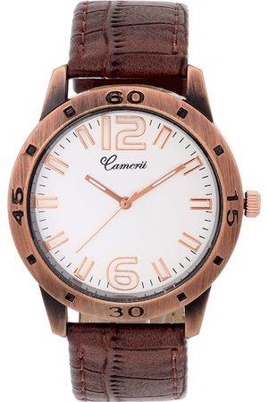 Camerii Men Cream-Coloured Analogue Watch WM193_L