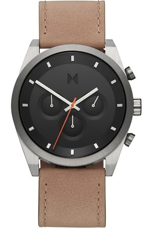 MVMT Men Charcoal Grey Leather Analogue Watch 28000044-D