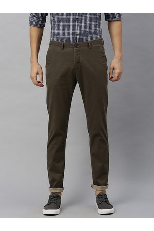 Blackberrys Men Brown Rafa Super Slim Fit Solid Regular Trousers