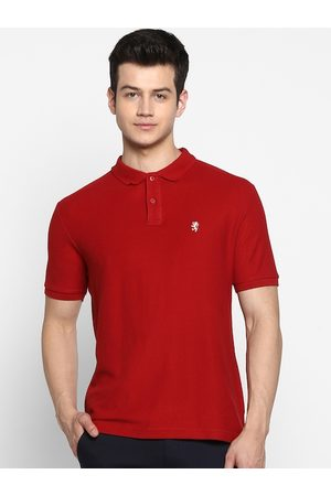 Red Tape Men Red Solid Polo Collar T-shirt