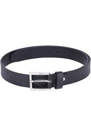 Alvaro Castagnino Men Black Leather Textured Belt