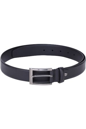 Alvaro Castagnino Men Black Textured Belt