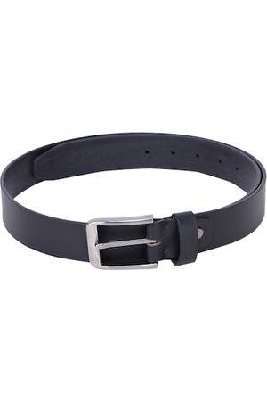Alvaro Castagnino Men Black Solid Leather Belt