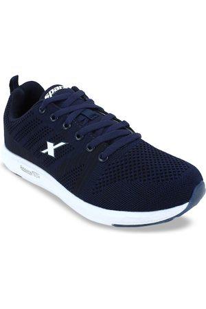 Sparx Men Navy Blue & White SM-379 Mesh Running Shoes