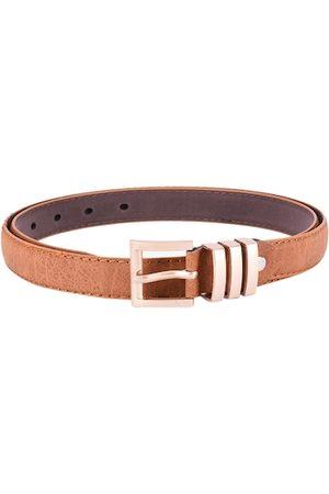 BuckleUp Women Tan Brown Textured Belt