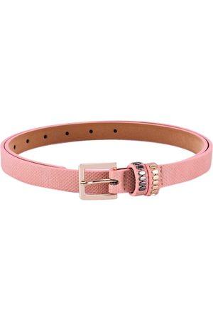 BuckleUp Women Pink Textured Belt