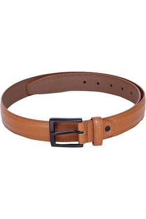 Alvaro Castagnino Men Tan Brown Textured Belt