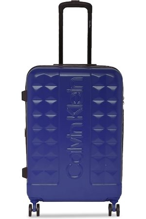 Calvin Klein Unisex Blue Solid Central Park West Hard-Sided Large Trolley Suitcase
