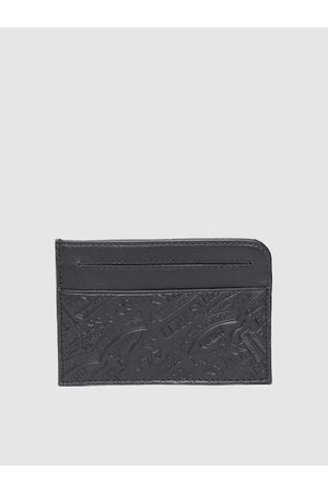 Levi's Men Black Textured Leather Card Holder