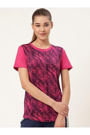 Barbie Women Pink & Black Printed Round Neck T-Shirt