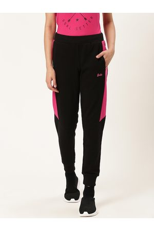 Barbie Women Black & Pink Solid Cropped Joggers