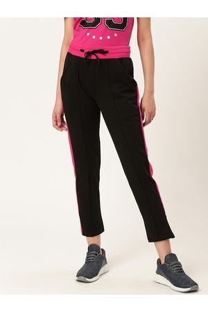 Barbie Women Black Solid Cropped Track Pants