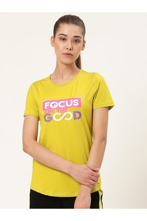 Barbie Women Lime Green Printed Round Neck T-shirt
