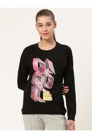 Barbie Women Black & Pink Printed Sweatshirt