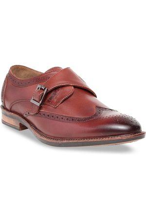 Teakwood Leathers Men Brown Solid Genuine Leather Formal Monks
