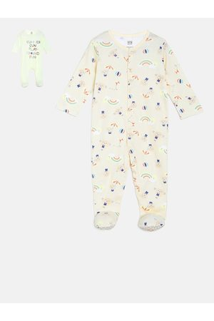 MINI KLUB Baby Sleepsuits - Infant Boys Pack Of 2 Printed Sleepsuit