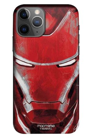 macmerise Red Charcoal Art Iron Man Pro Case For iPhone 11 Pro Max