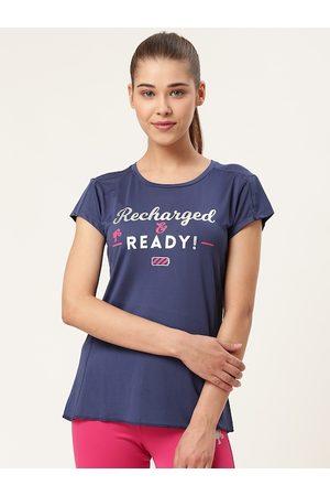 Barbie Women Navy Blue Printed Round Neck T-Shirt
