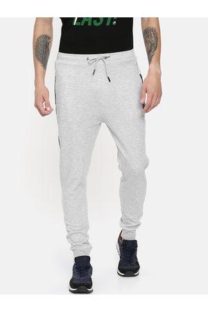 Proline Men Grey Melange Solid Slim-Fit Joggers