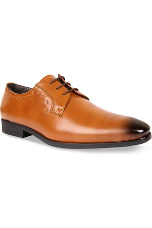 San Frissco Men Tan Brown Solid Formal Derbys