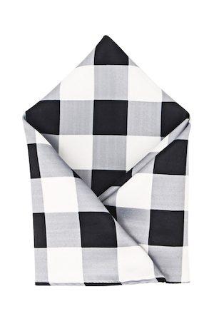 Blacksmith Men Black & Grey Printed Pocket Square