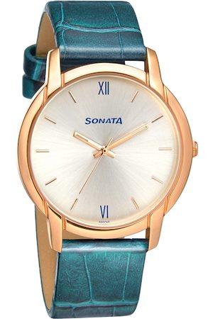 Sonata Men Silver-Toned Analogue Watch 77031WL01