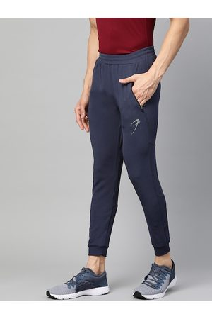FUAARK Men Navy Blue Tapered Fit Solid Training Joggers