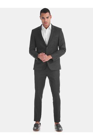 Arrow Men Grey Solid Slim-Fit Single-Breasted Zero Calorie Formal Suit